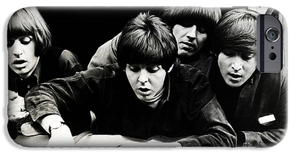 Beatles Digital Art iPhone Cases - The Beatles  iPhone Case by Marvin Blaine