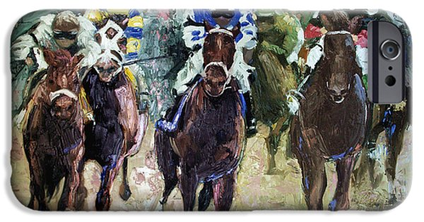 The Horse iPhone Cases - The Bets Are On iPhone Case by Anthony Falbo