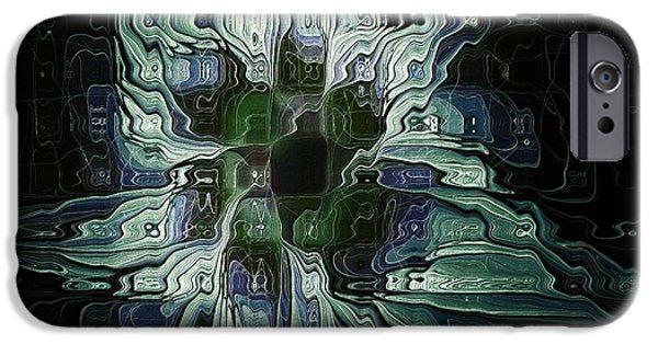 Floral Digital Art Digital Art iPhone Cases - The Blues iPhone Case by Amanda Moore