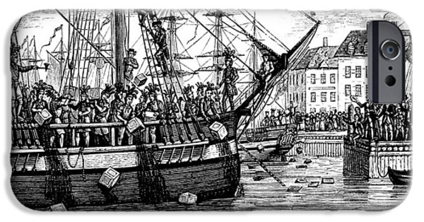 Tea Party iPhone Cases - The Boston Tea Party, 1773 iPhone Case by Granger