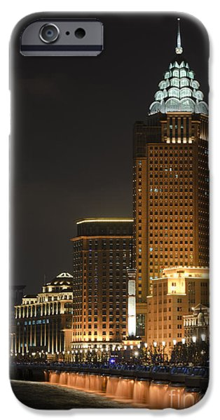 The Bund, Shanghai iPhone Case by John Shaw