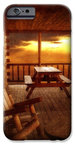 Lawn Chair iPhone Cases - The Cabin iPhone Case by Joann Vitali