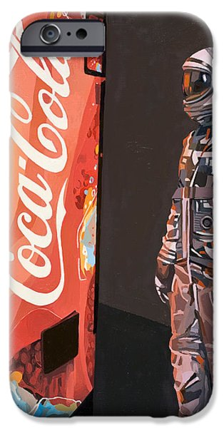 Science Paintings iPhone Cases - The Coke Machine iPhone Case by Scott Listfield