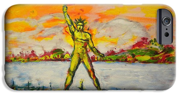 Mandraki iPhone Cases - The Colossus of Rhodes iPhone Case by Ben Schneider