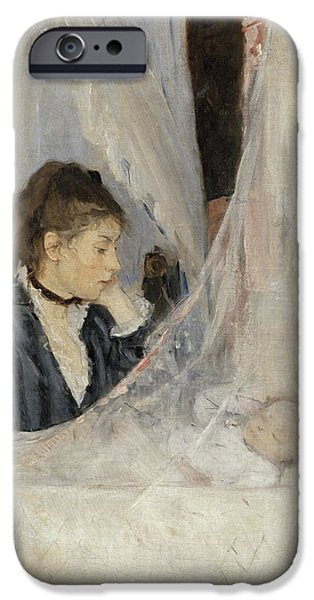Berthe Paintings iPhone Cases - The Cradle iPhone Case by Berthe Morisot