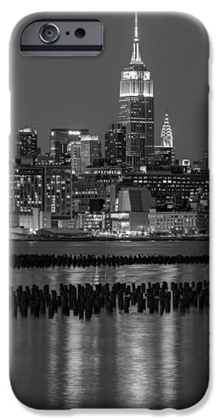 Empire State iPhone Cases - The Empire State Building Pastels II iPhone Case by Susan Candelario