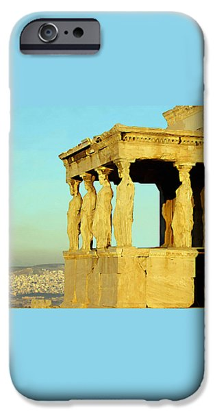 Remnant Paintings iPhone Cases - The Erechtheion iPhone Case by Ellen Henneke