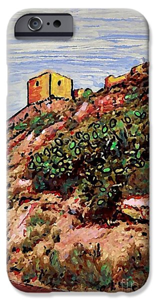 Ruin Mixed Media iPhone Cases - The Fort in Lorca 2 iPhone Case by Sarah Loft