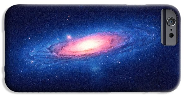 The Universe Paintings iPhone Cases - The Galaxy iPhone Case by Celestial Images