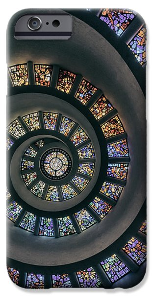 Interior Glass iPhone Cases - The Glory Window in Thanks-Giving-Square Dallas iPhone Case by Mountain Dreams