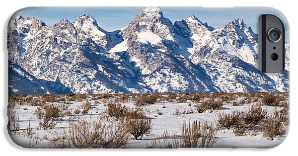 Snow iPhone Cases - The Grand Teton iPhone Case by Michael Chatt