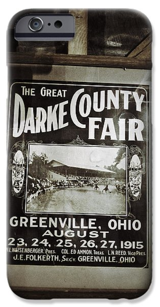 Grist Mill iPhone Cases - The Great Darke County Fair 1915 iPhone Case by Natasha Marco