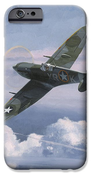 P-51 Mustang iPhone Cases - The High Country iPhone Case by Wade Meyers