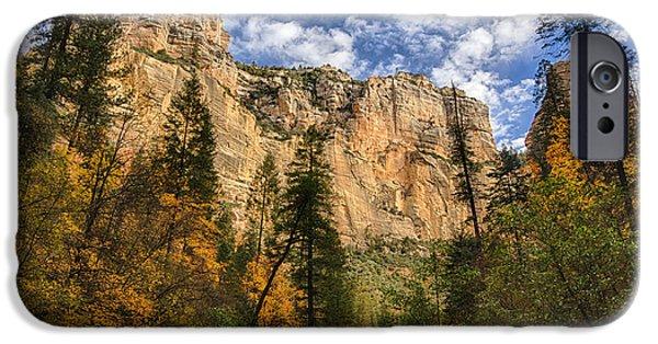 West Fork iPhone Cases - The Hills of Sedona  iPhone Case by Saija  Lehtonen