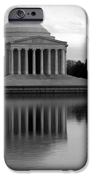 Cora Wandel iPhone Cases - The Jefferson Memorial iPhone Case by Cora Wandel