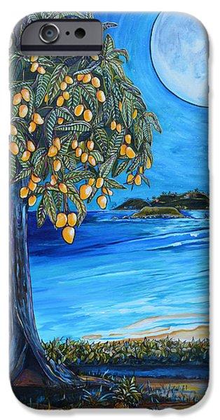 Beach At Night iPhone Cases - The Mango Tree iPhone Case by Patti Schermerhorn