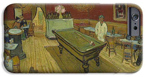 Night Lamp iPhone Cases - The Night Cafe iPhone Case by Vincent Van Gogh