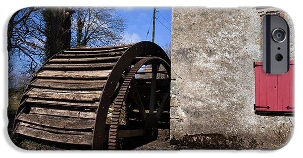 19th Century iPhone Cases - The Old Water Wheel And Flour-mill iPhone Case by Panoramic Images