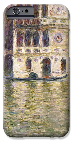 Venetian Canals iPhone Cases - The Palazzo Dario iPhone Case by Claude Monet