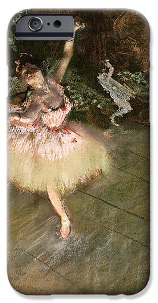 1876 Paintings iPhone Cases - The Star iPhone Case by Edgar Degas