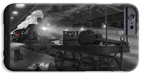 Walkway Digital Art iPhone Cases - The Station iPhone Case by Mike McGlothlen