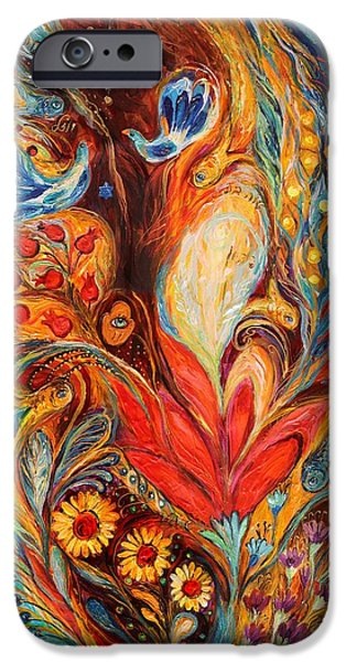 Judaica Prints Paintings iPhone Cases - The Tree of Life iPhone Case by Elena Kotliarker