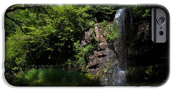 Reconstruction iPhone Cases - The Waterfall, Kilfane Glen And Garden iPhone Case by Panoramic Images