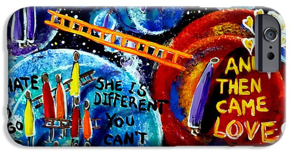 Discrimination Paintings iPhone Cases - Then Came Love iPhone Case by Jackie Carpenter