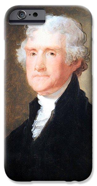 D.c. iPhone Cases - Thomas Jefferson -- 1 iPhone Case by Cora Wandel