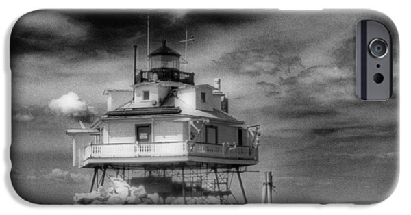 Annapolis Md iPhone Cases - Thomas Point Shoal Lighthouse iPhone Case by Skip Willits