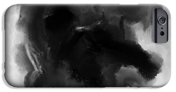 Buildings Mixed Media iPhone Cases - Three some 1930s Coal wash iPhone Case by Sir Josef  Putsche