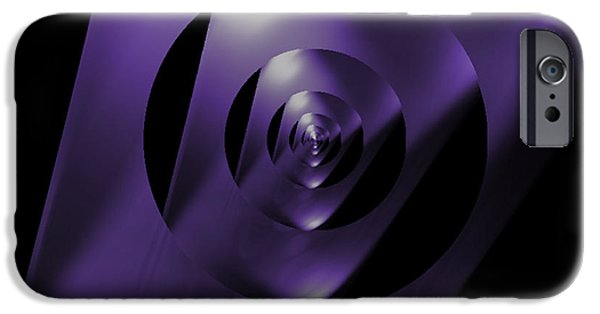 Abstractions iPhone Cases - Through the Looking Glass iPhone Case by Luther   Fine Art