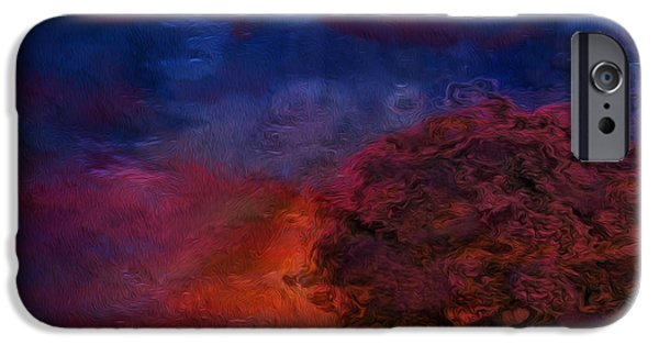 Abstract Digital Art iPhone Cases - Through The Mist iPhone Case by Jack Zulli