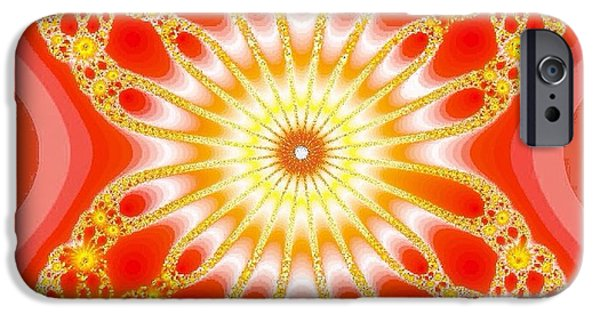Home Tapestries - Textiles iPhone Cases - Crazy Orange iPhone Case by Anne Barberi