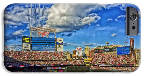 Jet Star iPhone Cases - Thunderbird Flyover at Target Field for All Star Game iPhone Case by Mountain Dreams