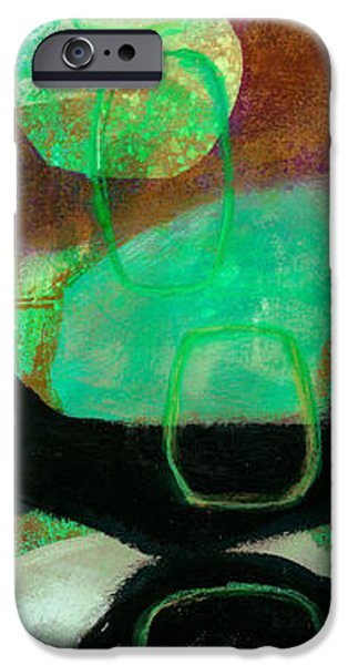 Abstract Drawing iPhone Cases - Tidal Current 1 iPhone Case by Jane Davies