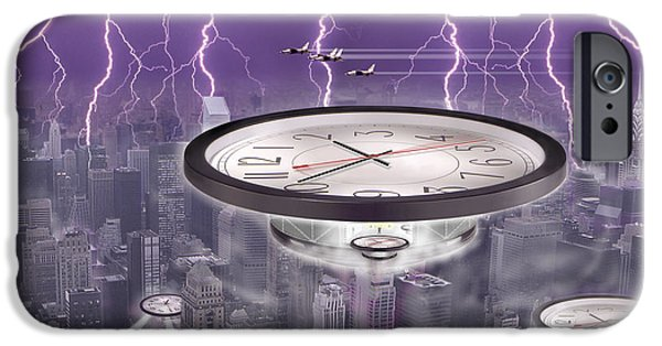 Ufo iPhone Cases - Time Travelers iPhone Case by Mike McGlothlen