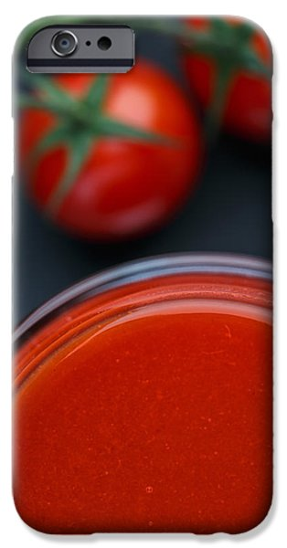 Small iPhone Cases - Tomato Juice iPhone Case by Nailia Schwarz