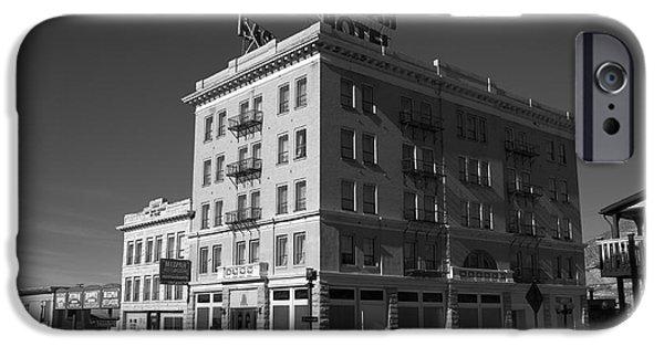 Juggling Photographs iPhone Cases - Tonopah Nevada - Mizpah Hotel iPhone Case by Frank Romeo