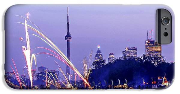 4th July iPhone Cases - Toronto fireworks iPhone Case by Elena Elisseeva