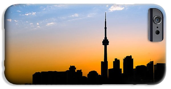 Night iPhone Cases - Toronto Skyline iPhone Case by Sebastian Musial