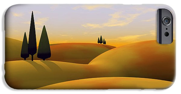 Modern Digital Art iPhone Cases - Toscana 3 iPhone Case by Cynthia Decker