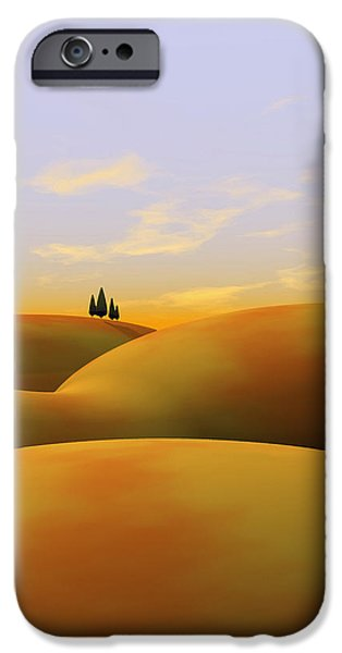 Tuscan Landscapes iPhone Cases - Toscana 3 iPhone Case by Cynthia Decker