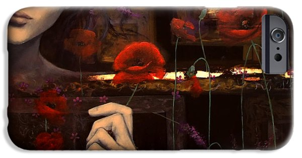 Fragility iPhone Cases - Touching the ephemeral iPhone Case by Dorina  Costras