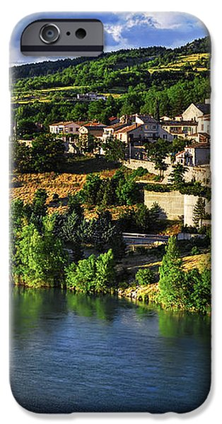 Town of Sisteron in Provence iPhone Case by Elena Elisseeva