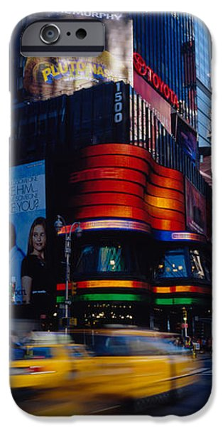 Land Vehicle iPhone Cases - Traffic On A Street, Times Square iPhone Case by Panoramic Images