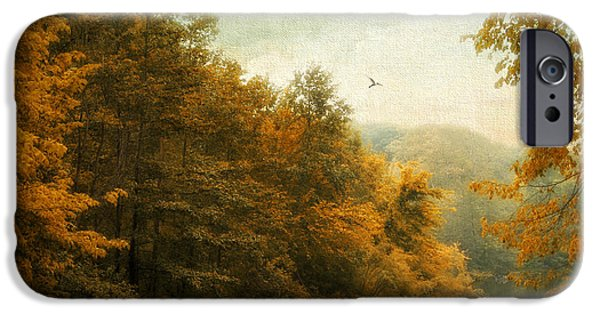 Autumn Digital iPhone Cases - Transitions iPhone Case by Jessica Jenney