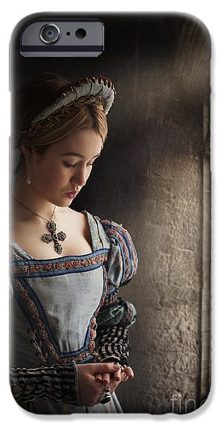 Duchess iPhone Cases - Tudor Woman  iPhone Case by Lee Avison
