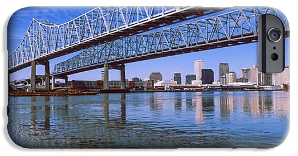 Connection iPhone Cases - Twins Bridge Over A River, Crescent iPhone Case by Panoramic Images