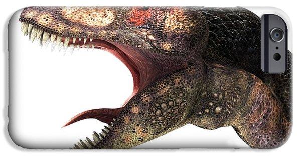 Fauna iPhone Cases - Tyrannosaurus Rex, Artwork iPhone Case by Animate4.com Ltd.
